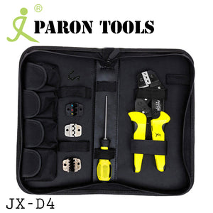 Paron 4 In 1 Ratchet Wire Terminal Crimping Crimper Tool Pliers 26-10 AWG Kit JX-D4