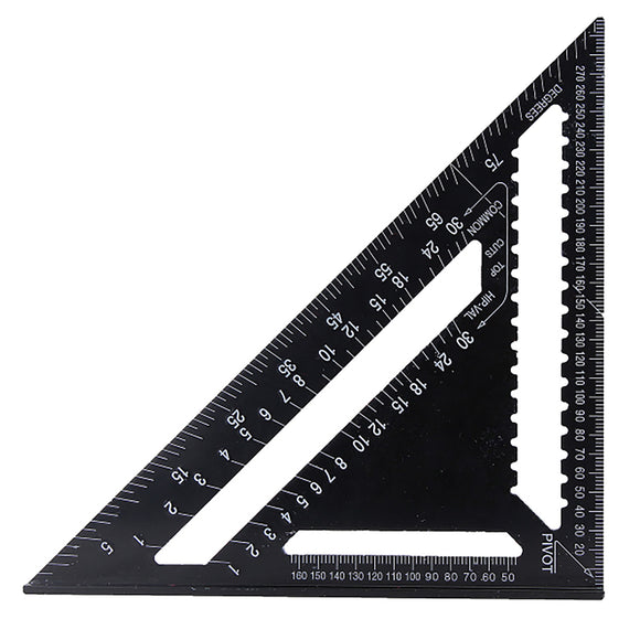 Raitool 12'' 43X30X30cm Carpenter Speed Guide Square Triangular Triangle Ruler AR01