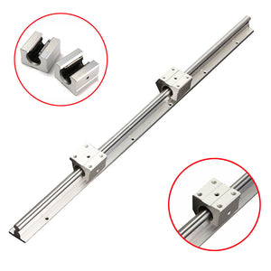 SBR12 600mm Linear Guide Slide Rail Shaft Rod Kit + 2pcs SBR12UU Block Bearing