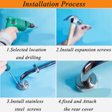 Stainless Steel Bathroom Shower Towel Safety Support Handle Grab Bar Grip Rail