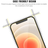 9H Tempered Glass Screen Protector for Apple iPhone 12 PRO MAX Front + Film Back