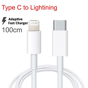 1m USB Type C to Apple iPhone iPad Lightning Fast Charging Data Sync PD Charger Cable Cord