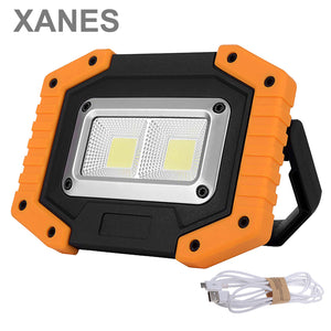 XANES 30W LED COB Waterproof Outdoor Camping Lantern Work Flood Light Lamp