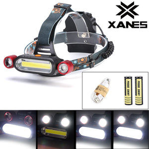 XANES 2 x 1300LM T6 LED Rechargeable Battey Headlamp Head Light Torch Flashlight