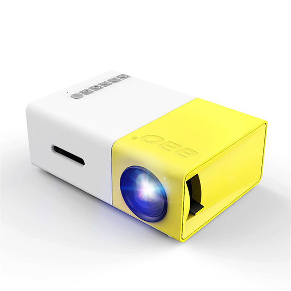 YG-300 3D LED 600Lumens 1080P Portable Mini Pocket Projector Home Theater Cinema