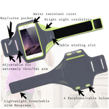 Universal Breathable Sports jogging running gym phone Armband arm strap < 6.5 inch Black