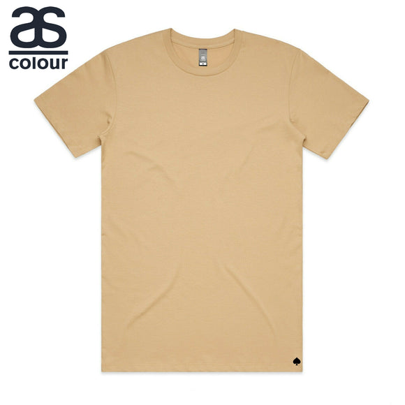 AS Colour T-SHIRT Blank Plain Print Paper Tee S-2XL Men's Premium Combed Cotton 5002 Tan