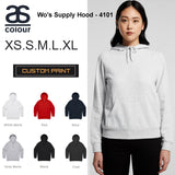AS Colour Hoodie Blank Plain Print Hooded Sweatshirt Women Wo's Supply Hood 4101 Black