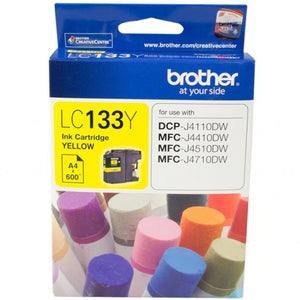 GENUINE Brother LC133 YELLOW Ink J4110DW J4410DW J4510DW J4710DW LC133Y