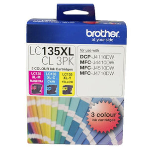 GENUINE Original Brother LC135XLCL3PK 3 Colours Value Pack Ink Cartridge LC135XL