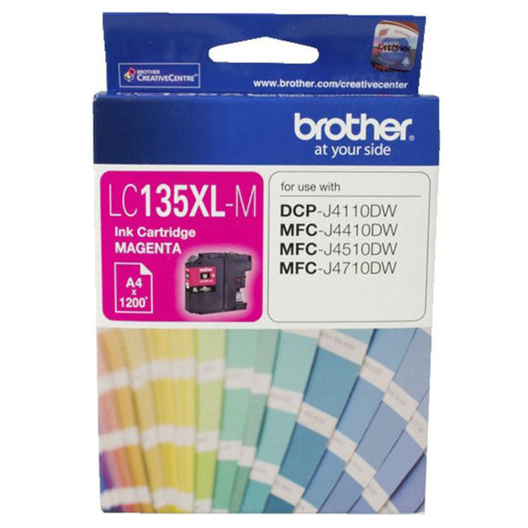 GENUINE Original Brother LC135XLM MAGENTA Ink Cartridge Toner LC135XL-M