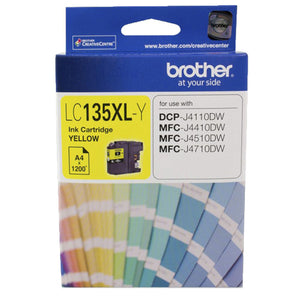 GENUINE Original Brother LC135XLY YELLOW Ink Cartridge Toner LC135XL-Y