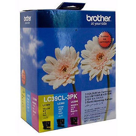 GENUINE Brother LC39CL3PK 3 Colours Value Pack Ink Cartridge LC39CL-3PK