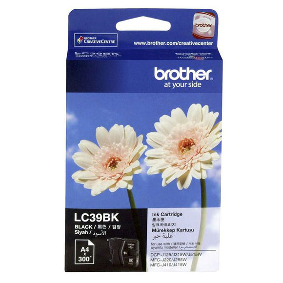 GENUINE Original Brother LC39BK Black Ink Cartridge Toner