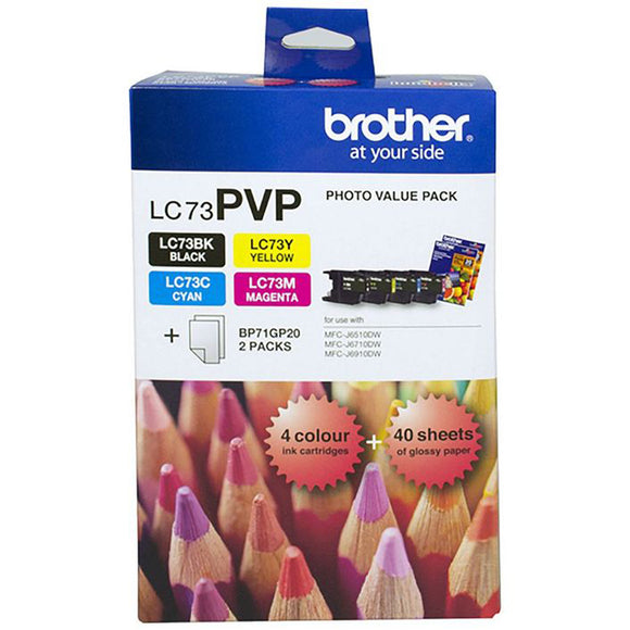 GENUINE Original Brother LC73PVP LC-73 4 Colours Value Pack Ink Cartridge Toner