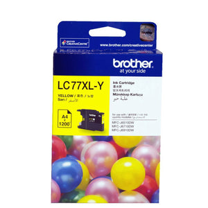 GENUINE Original Brother LC77XLY YELLOW Ink Cartridge Toner LC77XL-Y