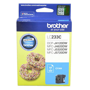 GENUINE Original Brother Ink Cartridge Toner LC233C Cyan Inkjet 550 Pages