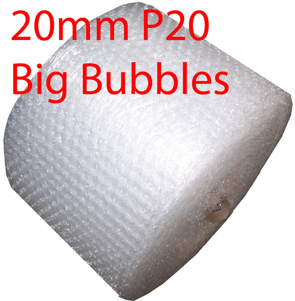 NEW 20mm P20 BIG Bubbles 300mm x 100M meters Bubble Wrap Roll clear Polycell