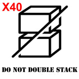 DO NOT DOUBLE STACK Large shipping label adhesive warning mailing sticky sticker 61x49mm