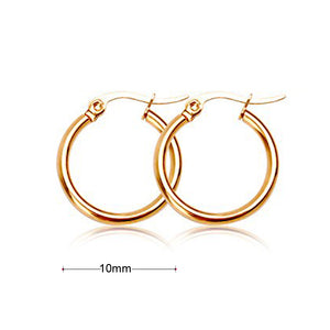 18k Gold Silver Plated Huggie Hoop Sleeper Earrings Non-allergenic AUS MADE