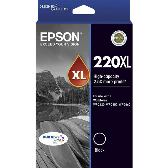 GENUINE Original Epson 220XL Black Ink Cartridge WF-2630 WF-2650 WF-2660 T294192