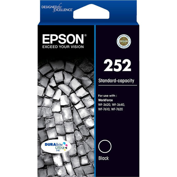 GENUINE Epson 252 Black Ink Cartridge WF-3620 WF-3640 WF-7610 WF-7620 T252192
