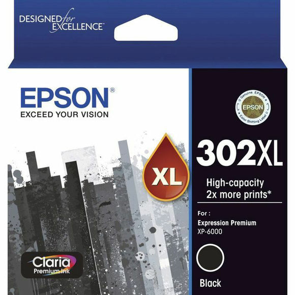 GENUINE Original Epson 302XL Black Ink Cartridge Toner Claria Premium T01X192