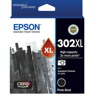 GENUINE Original Epson 302XL Photo Black Ink Cartridge Claria Premium T01Y192