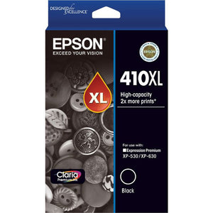 GENUINE Original Epson 410XL Black Ink Cartridge Toner XP-530 XP-630 T339192