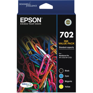 GENUINE Epson 702 4 colours Ink Cartridge Value Pack WF-3720 WF-3725 T344692