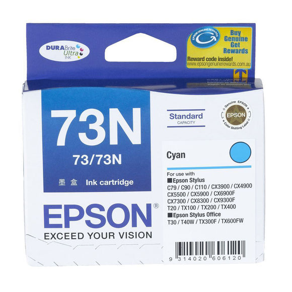 GENUINE Original Epson Stylus Office 73 73N CYAN Ink Cartridge Toner T105292