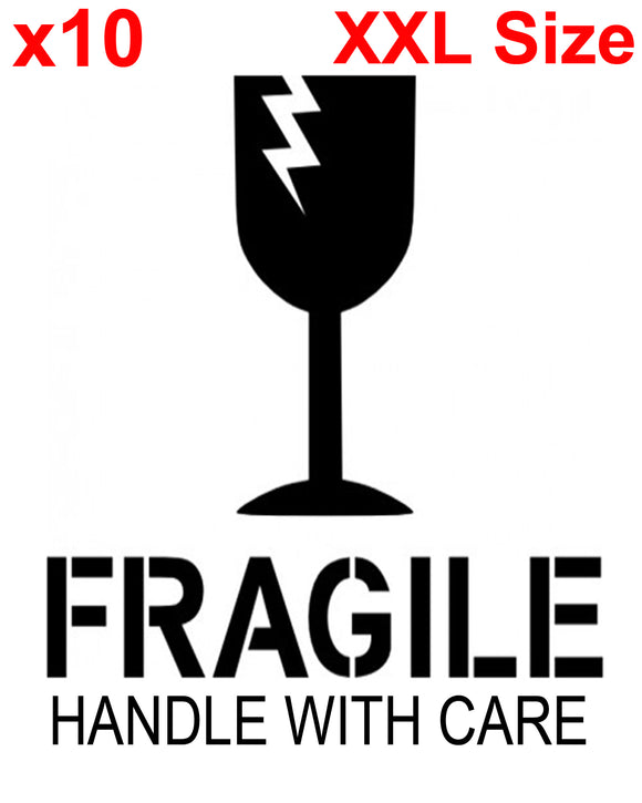 XXL FRAGILE HANDLE WITH CARE shipping label adhesive warning sticky sticker 100x150mm