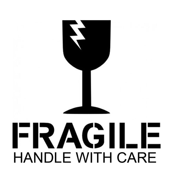 FRAGILE HANDLE WITH CARE Large shipping label adhesive warning mailing sticky sticker 61x49mm