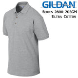 Gildan Jersey POLO Collar T-SHIRT Sport Grey tee S- XXL Ultra Cotton