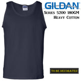 Gildan Navy Blue Tank Top Singlet Shirt S - 2XL Small Big Men's Heavy Cotton