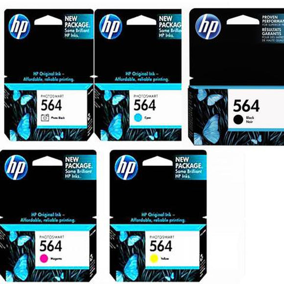 GENUINE Original HP 564 5 Colours Value Pack Ink Cartridge Toner