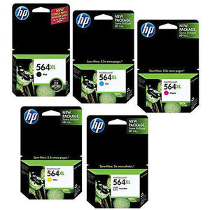 GENUINE Original HP Photosmart 564XL 5 Ink Cartridge Toner Value Pack