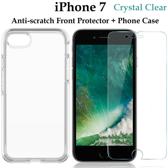 Apple iPhone 7 TPU clear case cover and 4H anti-scratch front screen protector
