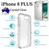 Apple iPhone 8 & 8 PLUS TPU transparent crystal clear cushion back case cover