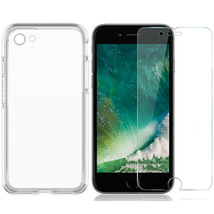 Apple iPhone SE 2020 clear case cover & Soft PET Film Front screen protector