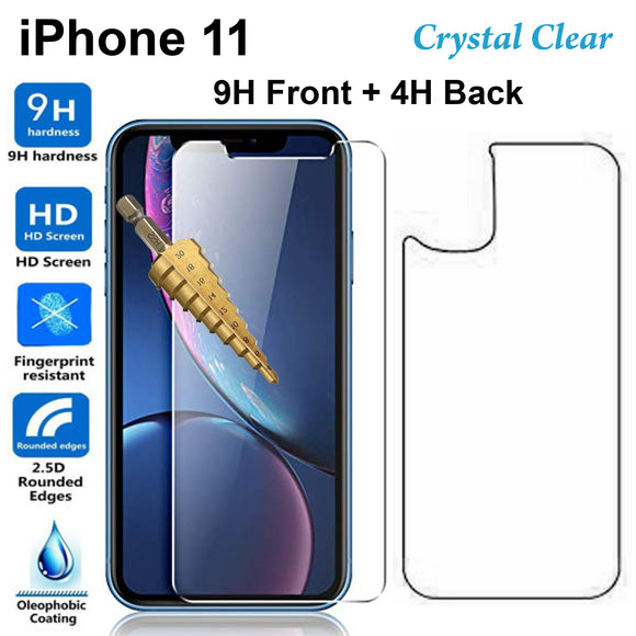Tempered Glass 9H Guard screen protector for Apple iPhone 11 front + Back