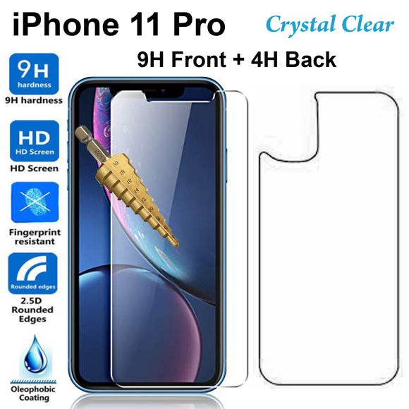 Tempered Glass 9H Guard screen protector for Apple iPhone 11 PRO front + Back