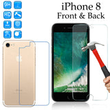 9H Tempered Glass screen protector Apple iPhone 8 front + Anti-scratch back