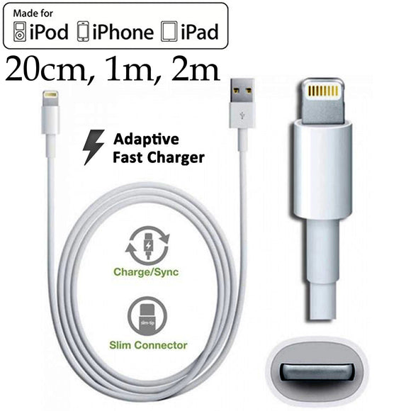 20cm 1m 2m Apple iPhone 5 6 7 8 X XS Max Xr PLUS SE iPad Air Pro Lightning Fast data sync charger charging cable