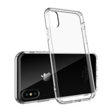 Apple iPhone X TPU Slim transparent crystal clear bumper cushion back case cover
