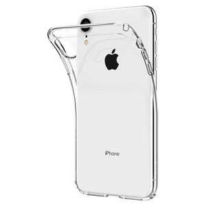 Apple iPhone XR TPU Slim transparent crystal clear bumper cushion back case cover