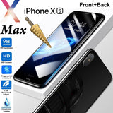 Tempered Glass 9H Guard screen protector for Apple iPhone Xs MAX front + Back