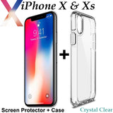 Apple iPhone X Xs clear case cover and 4H anti-scratch front screen protector