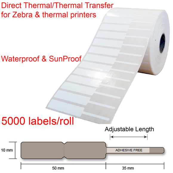 5000 Jewellery key watch price tags shipping labels roll 85x10mm for thermal transfer printer