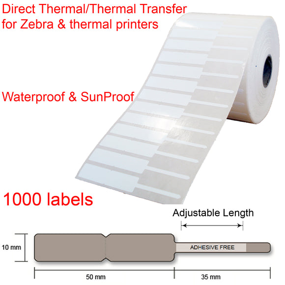 1000 Jewellery key watch price tags labels roll 85x10mm thermal transfer printer
